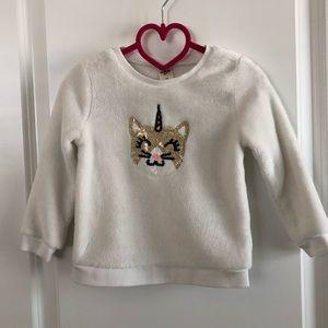 OshKosh B'gosh Sequin Fuzzy Sweater - Size 2T